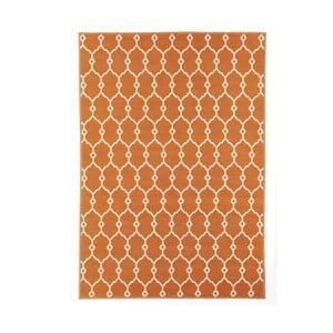 Oranžový vysoce odolný koberec Webtappeti Trellis,133x190cm