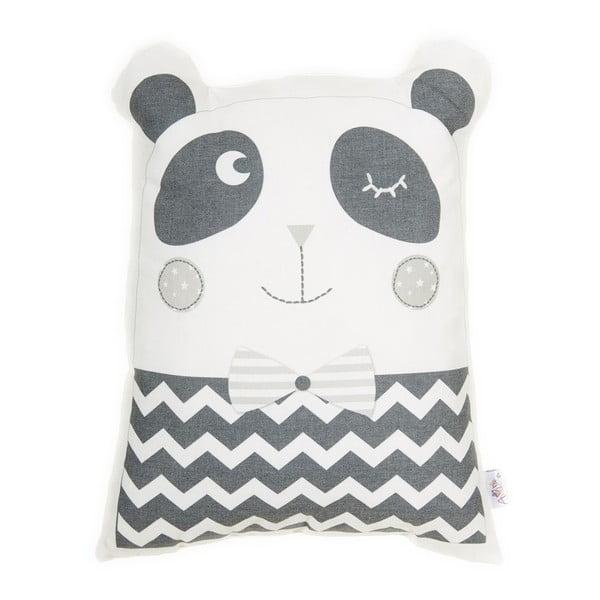 Pernă din amestec de bumbac pentru copii Apolena Pillow Toy Panda, 25 x 36 cm, gri