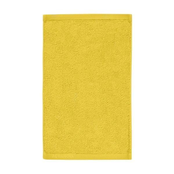 Žlutý ručník z egyptské bavlny Aquanova London, 30x 50cm