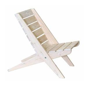 Șezlong din lemn de pin EcoFurn Pine, alb