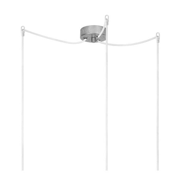 Trojitý závěsný kabel Bulb Attack Uno, stříbrná/bílá/stříbrná