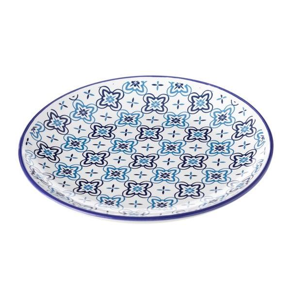 Modrobílý talíř Unimasa Marocco