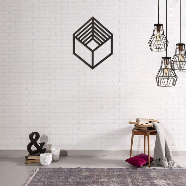 Kovová nástěnná dekorace Cubo