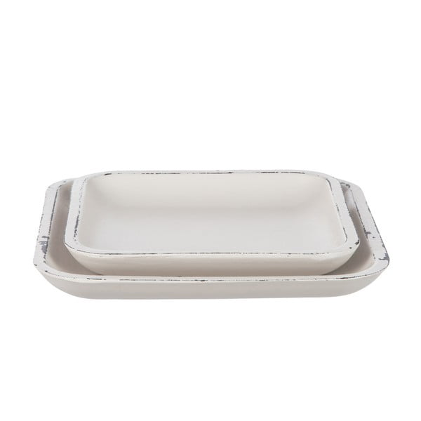 Set 2 táců White Plate