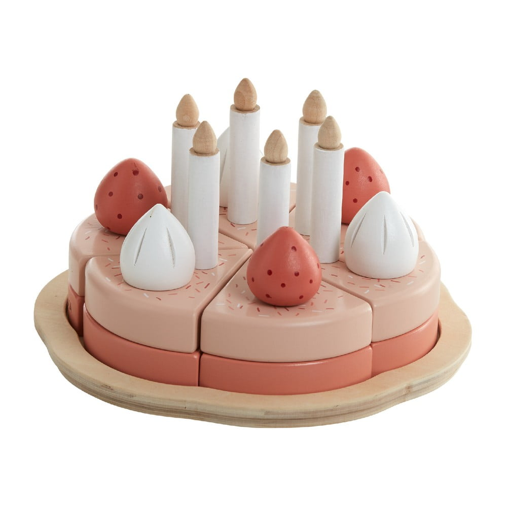 Dřevěný dětský hrací set Flexa Play Birthday Cake