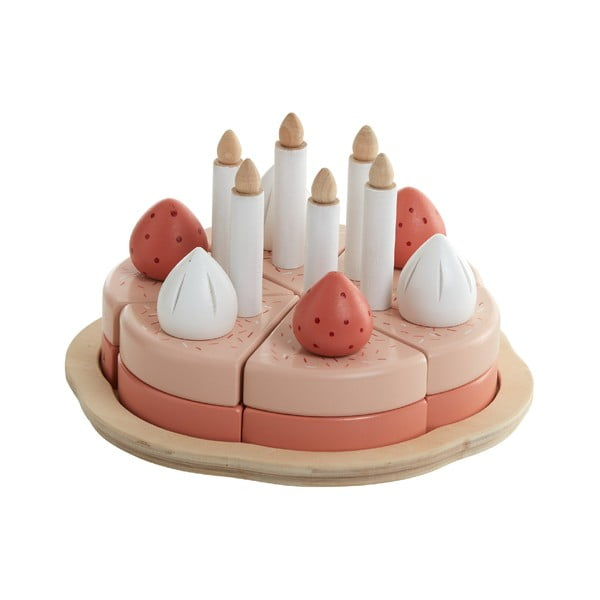 Drevený detský hrací set Flexa Toys Birthday Cake
