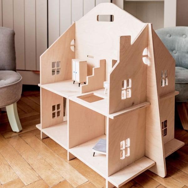 Drevený detský domček pre bábiky Dekornik Doll House