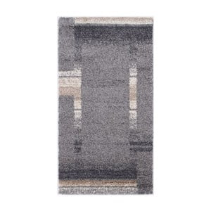 Šedý koberec Calista Rugs Jaipur Block, 67x200cm