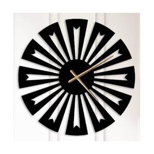 Černé kovové nástěnné hodiny Ethel