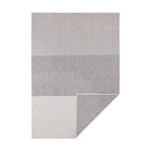 Šedo-krémový oboustranný koberec vhodný i na ven Bougari Borneo, 200 x 290 cm