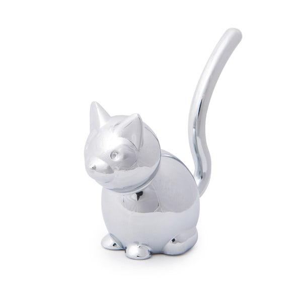 Stojánek ve stříbrné barvě na prsteny Umbra Zoola Cat