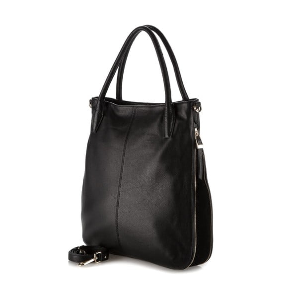 Kožená kabelka Elegance Simple Black
