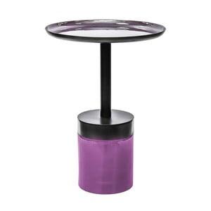 Fialovo-černý odkládací stolek 360 Living Valbona, ⌀ 41 cm