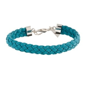 Náramek Strand braided silver, light blue