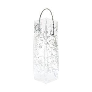 Dárková taška lahev s potiskem ve stříbrné barvě Brandani Gift
