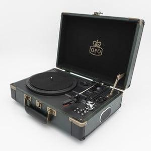 Zeleno-černý gramofon GPO Ambassador