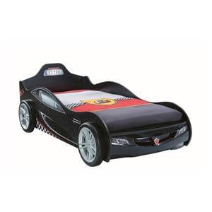 Černá dětská postel ve tvaru auta Coupe Carbed Black, 90 x 190 cm