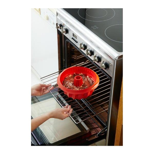 Červená silikonová forma na bábovku Lékué, ⌀ 22 cm