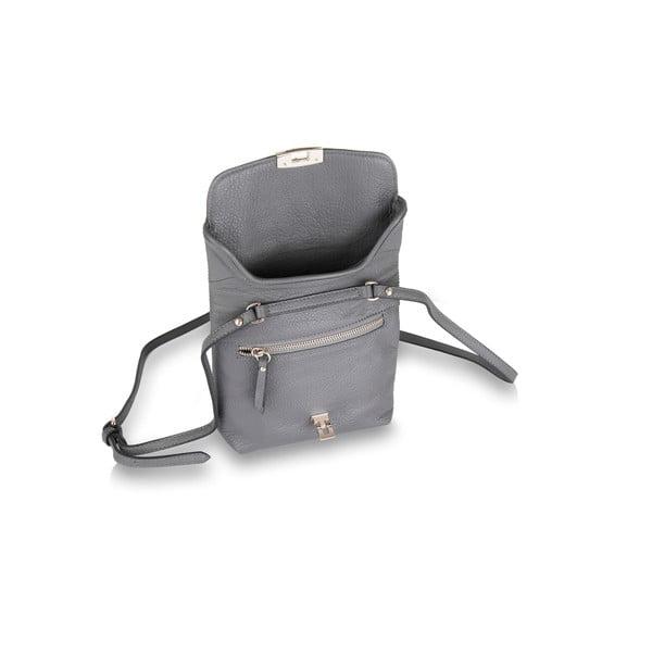Kožená kabelka Valentini 865, šedá