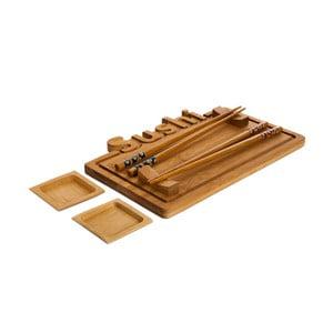 Set podnosu, talířků a hůlek na servírování sushi Bambum