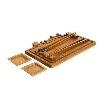Set platou și bețișoare pentru sushi Bambum