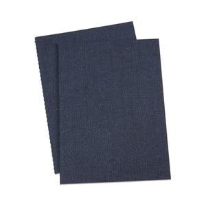 Sada 2 tmavě modrých poznámkových bloků Bigso, 40 stran