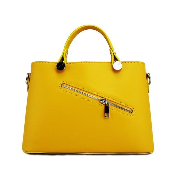Kožená kabelka Adelaide Giallo
