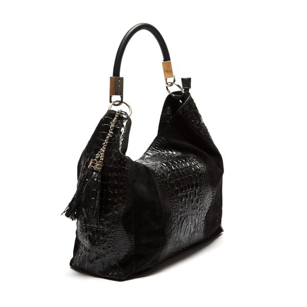 Černá kožená kabelka Sofia Cardoni Belinda