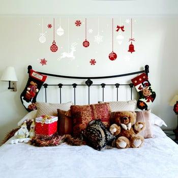 Autocolant Crăciun Ambiance Red and White Snowflakes de la Ambiance