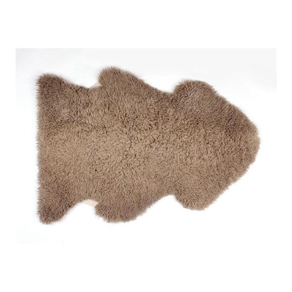 Ovčí kožešina Curly Taupe, 90 cm
