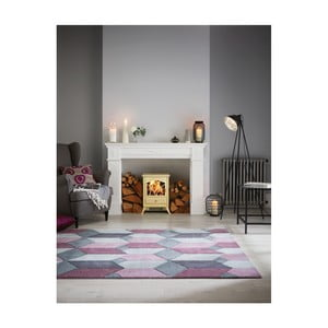 Šedo-fialový koberec Flair Rugs Scope Purple, 160 x 230 cm