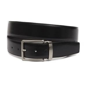 Černý pánský kožený pásek GF Ferre Richard, délka 135 cm