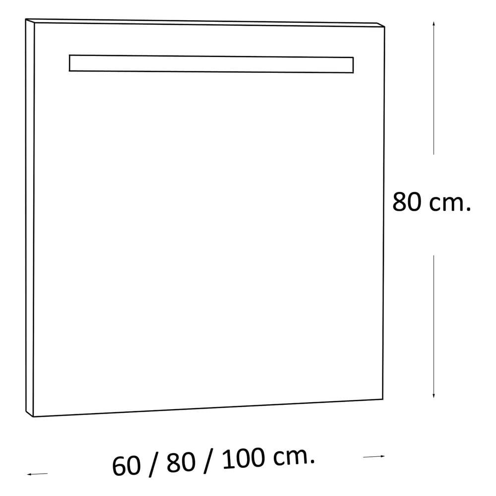 Oglind cu lumin led miroir 80x80 cm bonami for Miroir 80x80