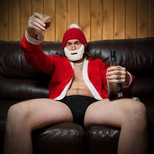 Čepice Beardo Original Santa Claus s odepínatelným vousem