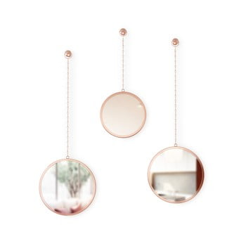 Set 3 oglinzi suspendate Umbra Rondo, arămiu poza