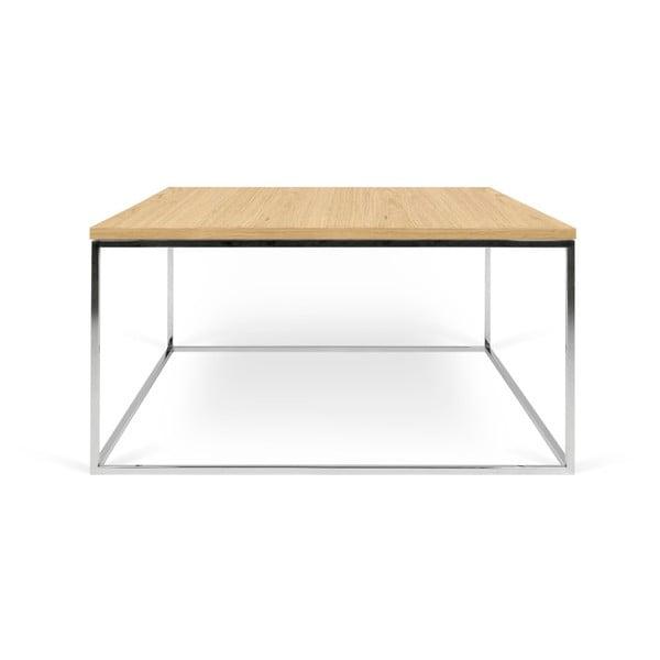 Gleam dohányzóasztal krómozott lábakkal, 75 x 75 cm - TemaHome