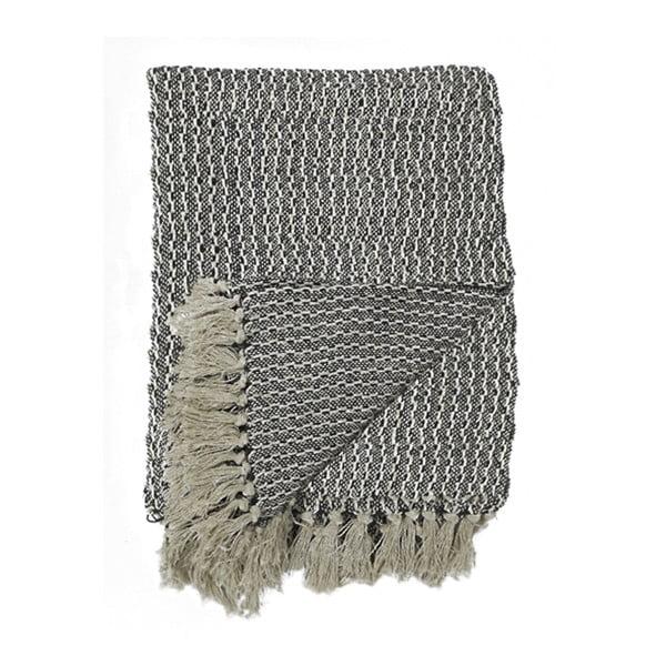 Šedá bavlněná deka House Nordic Cort, 160 x 130 cm