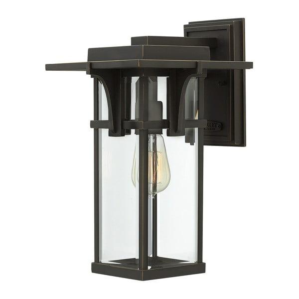 Černé nástěnné svítidlo Elstead Lighting Manhattan Uno Medium