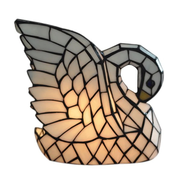 Tiffany stolní lampa Swan Lamp