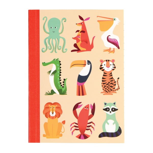 Colourful Creature füzet, A6 - Rex London