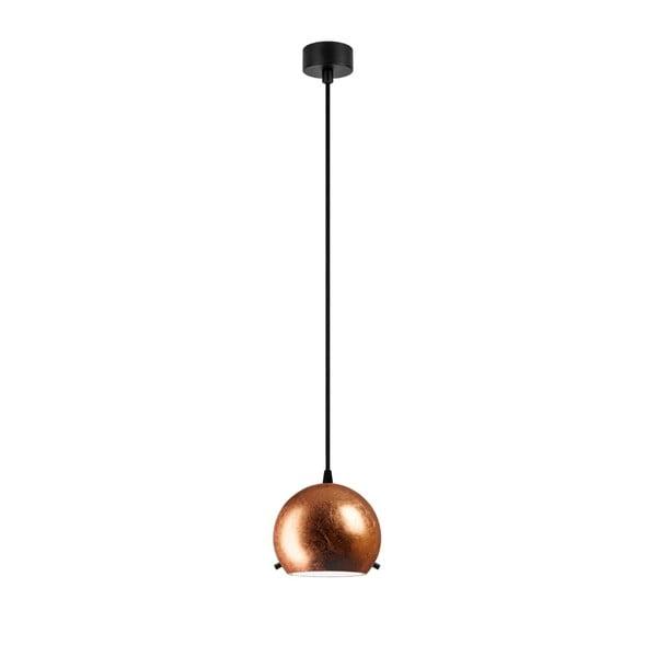 Závěsné svítidlo v měděné barvě s černým kabelem Sotto Luce Myoo