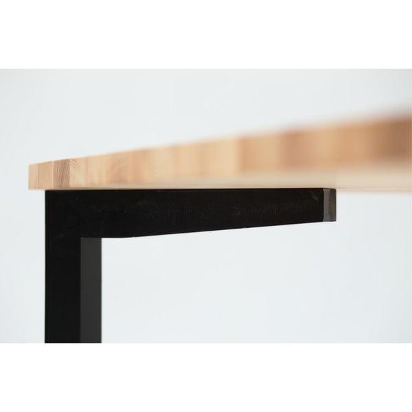 Černý jídelní stůl Ragaba TRIVENTI, 80x120cm