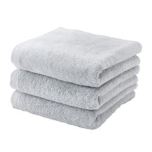 Šedý ručník z egyptské bavlny Aquanova London, 55 x 100cm