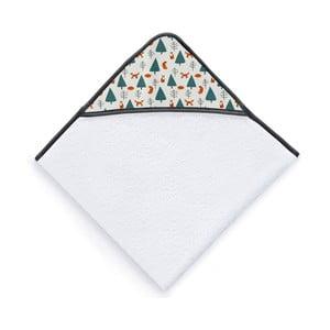 Prosop cu glugă pentru copii Tanuki Fox Pattern, 100 x 100 cm