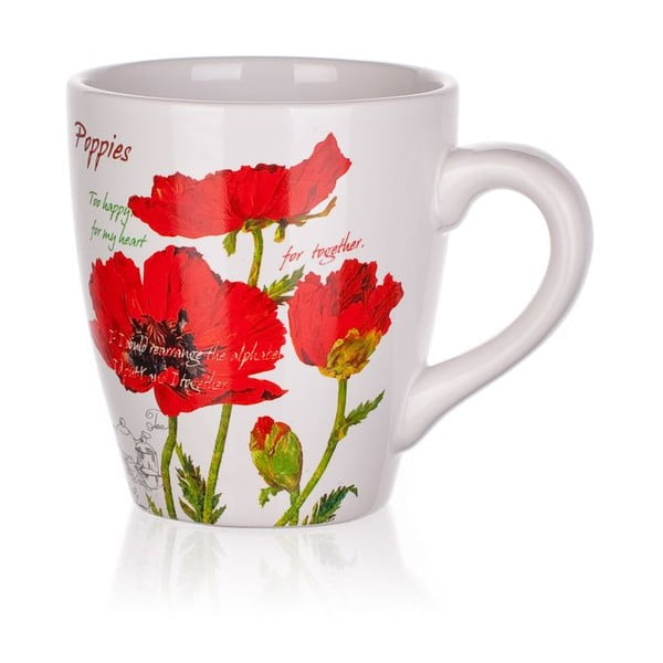 Hrneček Red Poppies, 500 ml