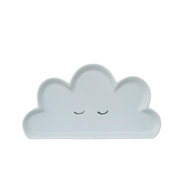 Farfurie din ceramică pentru copii Bloomingville Smilla Cloud, albastru