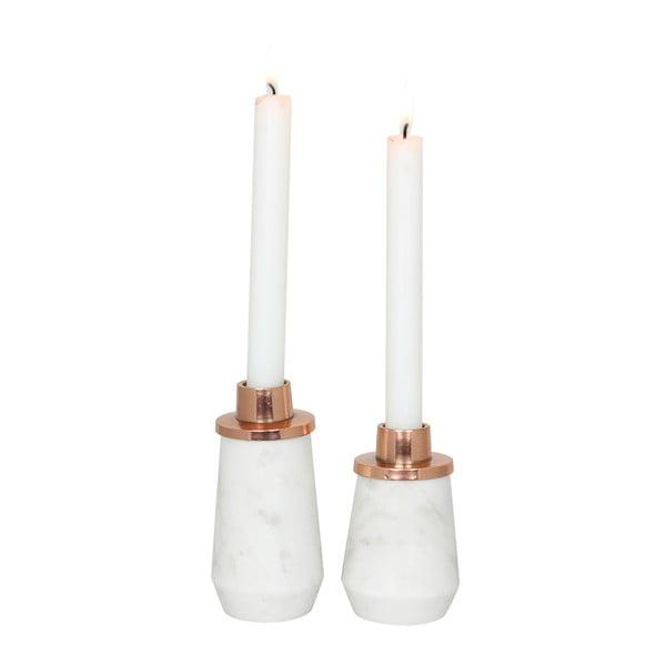 Stojan na svíčku White Copper, 8 cm