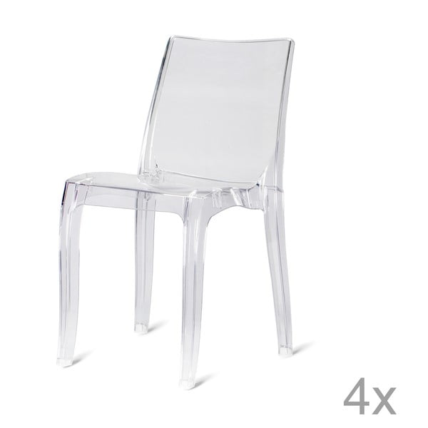 Sada 4 plastových židlí Claudia