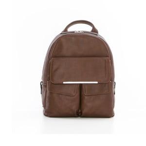 Tmavě hnědý kožený batoh Gianni Conti Petrina