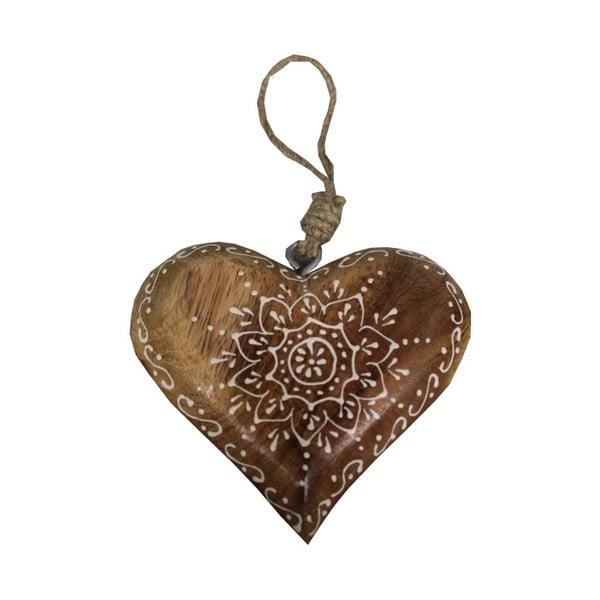 Szív alakú fa függődísz - Antic Line